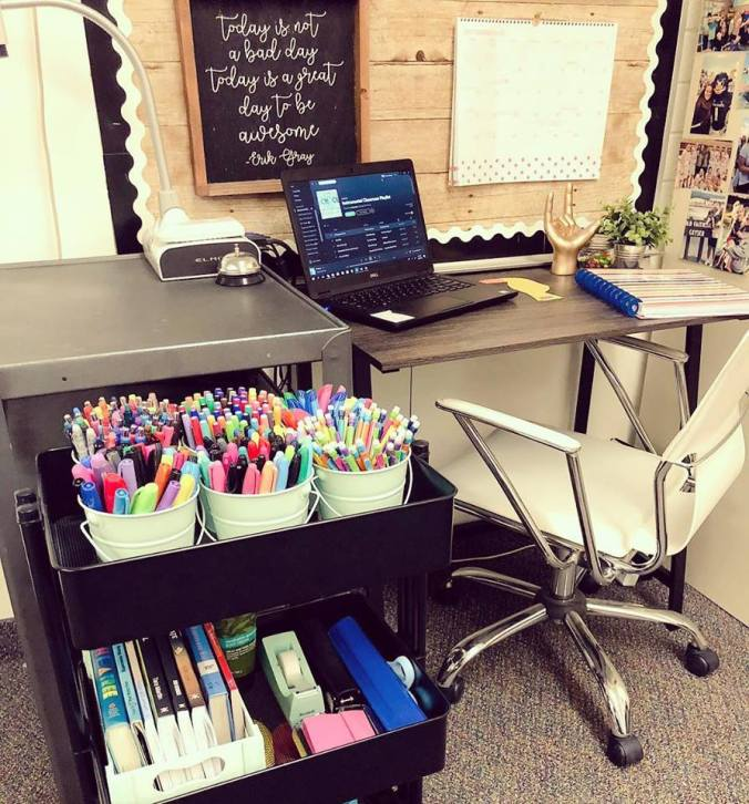 pens and desk